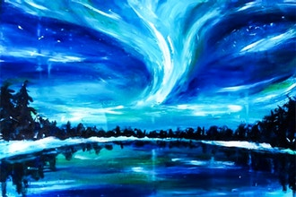 Paint Nite: Lighthearted Northern Lights