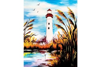 Paint Nite: Lighthouse in Fall