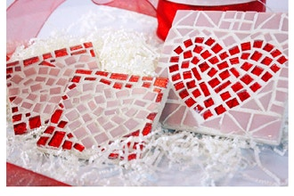 Make a Mosaic: Sweethearts, Two Coasters or Trivet