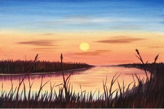 Virtual Paint Nite: Marsh Sunrise