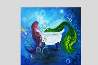 Virtual Paint Nite: Mermaid Bubble Bath (Ages 6+)