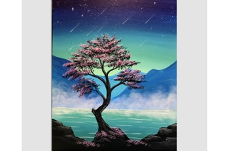Paint Nite: Misty Mountain Midnight