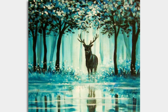 Paint Nite: Misty Teal Forest