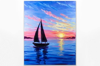 Paint Nite: Moment on the Ocean