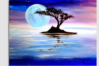Paint Nite: Moonlight Moon Set