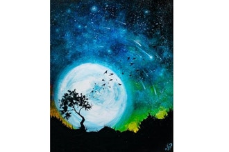 Paint Nite: Moonlit Starry Night II