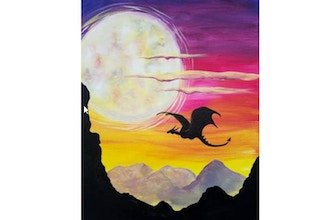 Virtual Paint Nite: Moonrise Dragon (Ages 6+)