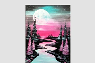 Paint Nite: Moonrise Over The River