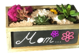 Plant Nite: Mother's Day Chalkboard Terrarium