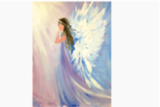 Virtual Paint Nite: My Beautiful Angel (Ages 6+)
