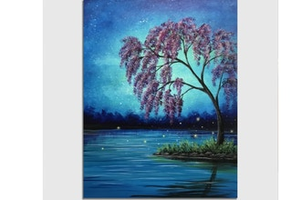 Paint Nite: Mystic Purple Blossoms