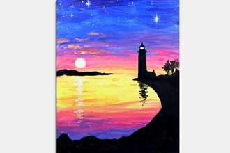 Paint Nite: Ocean Lights