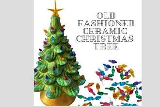 Old Fashioned Ceramic Christmas Tree (Ages 6+)