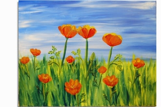 Paint Nite: Orange California Poppies