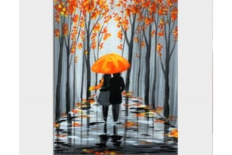 Paint Nite: Rainy Autumn Stroll (Ages 18+)