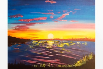 Paint Nite: A Warm Colorful Sunset