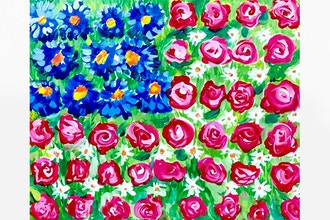 Paint Nite: American Flag in Flowers