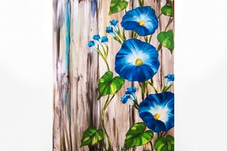 Paint Nite: Barnyard Morning Glories