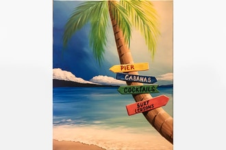 Paint Nite: Beach Time Decisions