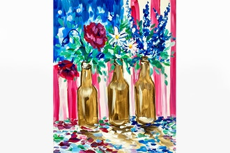 Paint Nite: Beer Bottle Blossoms