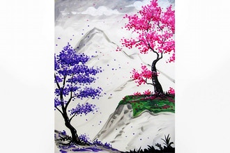Paint Nite: Blissful Blossoms