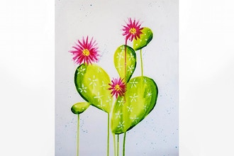 Paint Nite: Blooming Cactus II