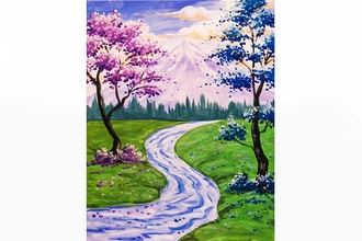 Paint Nite: Blossoms Along the Stream