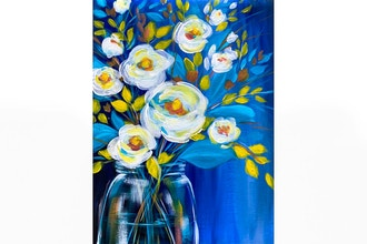 Paint Nite: Blue Magnolia Bouquet