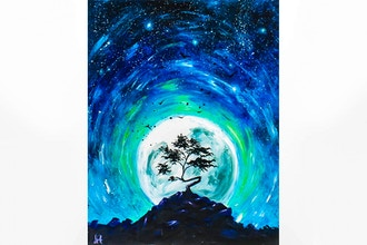 Paint Nite: Blue Moon Starry Night II