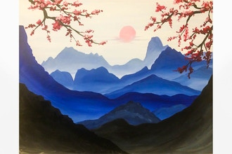 Paint Nite: Blue Mountain Dream