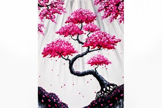 Paint Nite: Bonsai Blossom Falls