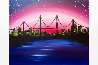 Paint Nite: City Bridge at Dusk