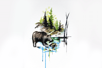 Paint Nite: Claire The Bear In Mountain Air