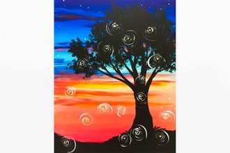 Paint Nite: Fireflies at Sunset