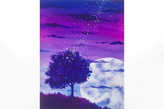 Paint Nite: Fireflies into the Night Sky