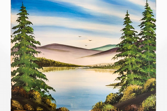 Paint Nite: Happy Little Trees