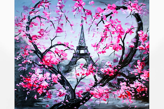 Paint Nite: Heart Of Eiffel