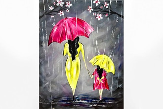 Paint Nite: Hold My Hand Through the Spring Rain, Baby