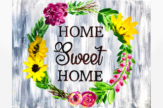 Paint Nite: Home Sweet Home Wreath