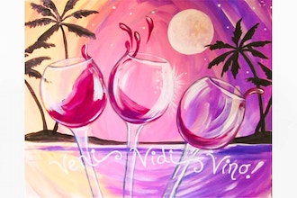Paint Nite: I Came, I Saw, I Wined