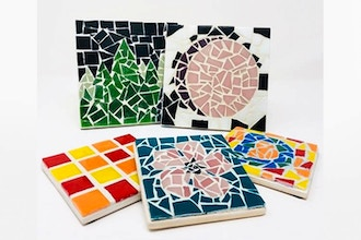 Paint Nite Innovation Labs: Custom Mosaic Coasters IV