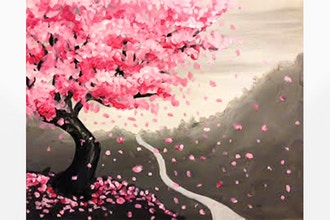 Virtual Paint Nite: Japanese Cherry Blossom (Ages 6+)