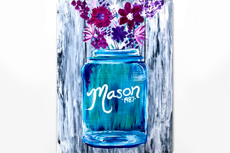 Paint Nite: Mason Jar Blossoms