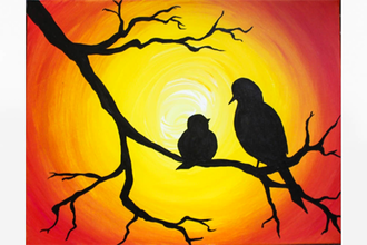 Paint Nite: Momma Bird and Baby