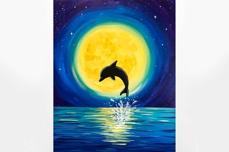 Paint Nite: Moonlight Dolphin Dance (Ages 13+)