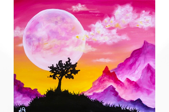 Paint Nite: Moonlit Mountains II