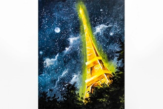 Paint Nite: Moonlit Starry Paris
