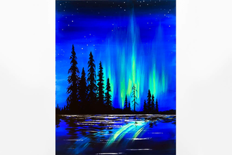 Paint Nite: Northern Lights On The Lake