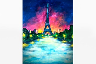 Paint Nite: Paris Streetlights