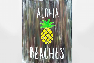 Paint Nite: Pineapple Aloha Beaches